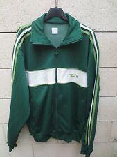 Veste ADIDAS ORIGINAL SPORT rétro vintage vert tracktop jacket giacca XL
