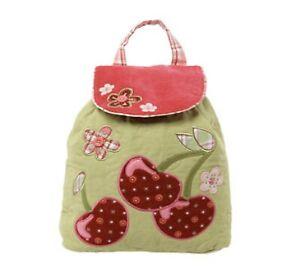 Personalised Stephen Joseph Cherry Signature backpack for kids, School Bag