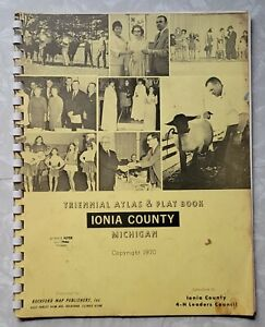 Ionia County Michigan Plat Map 1970