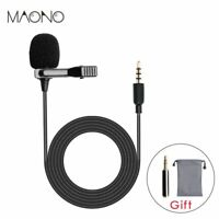 Lavalier Microphone Lav Mic 3.5mm Omn Clip-on Mic Lapel Set Dual Signal