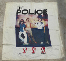 RARE 1982~THE POLICE~GHOST IN THE MACHINE ~46X46 ~SATIN FABRIC~WALL HANGING~HUGE
