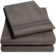 1500 Supreme Collection Extra Soft King Sheets Set, Gray - Luxury Bed Sheets Se