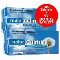 160 TABLETS OF CETIRIZINE 10MG - SAME AS ZYRTEC- (WHY PAY FOR BRAND NAME?) 03/23