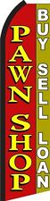 Pawn Shop  King  Size  Polyester Swooper  feather Flag  sign