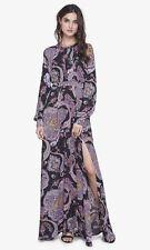 NEW EXPRESS PAISLEY POET SLEEVE MAXI LONG DRESS SIZE 2