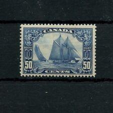 #158 50c Bluenose single F+ MNH Cat $200 Canada mint