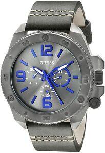 Guess Fashionable Quartz Movement Grey Dial Men's Watches U0659G3