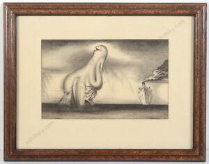 """Vilem Reichmann (1908-1991) """"Les vacances a la mer"""", charcoal drawing, 1940"""