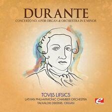Durante - Concerto 4 Organ & Orch E Min [New CD] Concerto 4 Organ & Orch E Min [