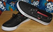 Men's  Levis    Black line   Canvas     Deck   top side  Shoes    9.5