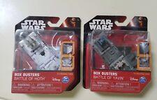 NIP Star Wars Box Busters Battle of Yavin, Battle of Hoth Disney Pop Open Cube