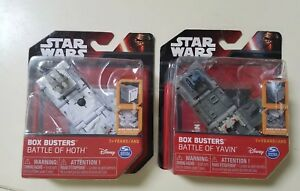NIP Star Wars Box Busters Battle of Yavin, Battle of Hoth Disney Pop Open Cube