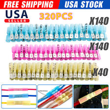 320x Heat Shrink Maleampfemale Crimp Spade Electrical Wire Connectors Terminal Kit