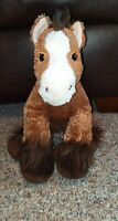 """Build-A-Bear Workshop Brown Clydesdale Horse Stuffed Plush Animal Toy 13"""""""