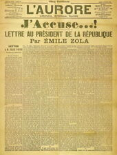 130524 J'accuse Emile Zola L'Aurore open letter Decor LAMINATED POSTER FR
