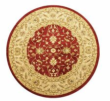 ROUND Afghan Ziegler Wool like Antique Traditional RED RUST Rug 160cm -30%OFF