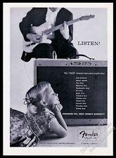 1959 Fender telecaster guitar Twin Amp photo vintage print ad