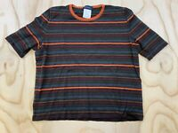 VTG PIAZZA SEMPIONE WOMEN SIZE 46 100% PURE NEW WOOL STRIPED TOP SHIRT SWEATER