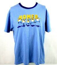 Mens Vintage The Simpsons Blue Homer T Shirt Size Large