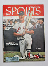 TED WILLIAMS    AUGUST1ST 1955-Sports-Illustrated  PRISTINE, BRIGHT COLORS!