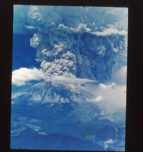 Orig 35mm Slide Transparency TV Station Mt. St. Helen's Eruption