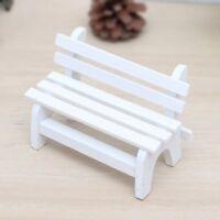 Dollhouse Miniature Fairy Garden Park Furniture Wooden Bench DIY Craft Ornaments