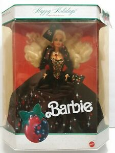 Vintage 1991 Happy Holiday Barbie, Special Edition, New in Box  #1871