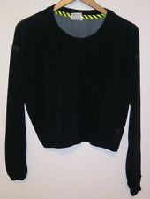 Women s NIKE Track And Field Crop Top Shirt Mesh Back Black Large ... 363076e43e570