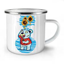Teddy Bear NEW Enamel Tea Mug 10 oz | Wellcoda