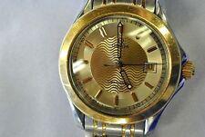 OMEGA Seamaster 120m Quartz Men's Watch 1538 two toned beautiful dial runs great