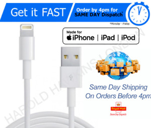 Genuine iPhone cable Charger for iPhone 12 11 X 6 5 7 8 iPad USB Data Lead cable