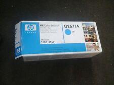 Genuine HP Cyan Q2671A LaserJet Printer Toner Cartridge 3500/3550 Opened VAT Inc