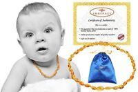 Babies Teething Necklace Anti Inflammatory Drool Teething Pain Reduce Properties