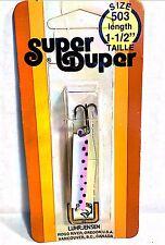 """Luhr-Jensen Vintage Super Duper Rainbow Trout Size 503, 1-1/2"""" Long"""