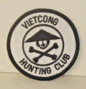 Vietnam Veteran Vietcong Hunting Club   IRON ON   PATCH