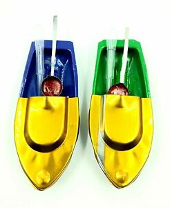Tin toy Boat Handmade Classic putt putt steam Toy Boat for Kids Pack of 2