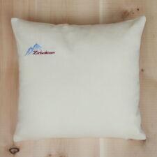 Zirbenkissen 40x40 Baumwolle creme weiß, frisch befüllt, mit GRATIS Nachfüllpack