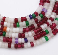 """New 2x4mm Faceted Rondelle Multicolor Gemstone jade Beads Strand 15"""""""