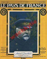 Le pays de France n°121 du 08/02/1917 amiral Gauchet Bour
