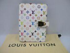 Authentic Louis Vuitton White Multi-color Agenda multicolor Day Planner Cover