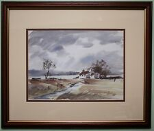 Original Watercolour Painting Art DONEGAL COTTAGE by Irish Artist VICTOR CHRIMES