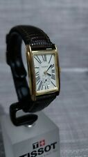 TISSOT LADY DOUBLE DIAL VINTAGE GOLD FILLED WATCH - LADIES - NEW BATTERY