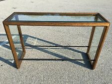 designer console alter sofa hall table gilt beveled glass hollywood regency
