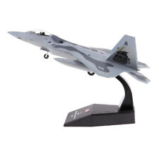 1:100 Scale Retro Alloy Aircraft Model Diecast Military F22 Fighter Model