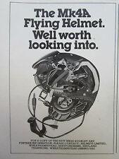1980 PUB HELMETS LIMITED CASQUE AVIATION HELMET MK4A ORIGINAL AD