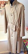 "vintage St Michael beige full length belted trench mac/ raincoat ~M 38-40"""