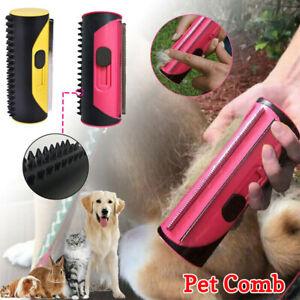 Pet Dog Cat Hair Fur Deshedding Shedding Trimmer Tool Grooming Roll Comb Brush