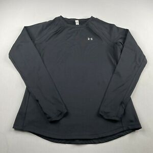 Under Armour Coldgear Fitted Base Layer LS Crew Neck Shirt Black Womens Large