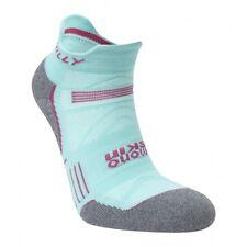 Hilly Urban Womens Supreme Socklet Sports Sock Wool Anti Odour - Aqua/Grey Marl