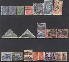 South Africa pre-1950 used hi val selection 25 diff stamps cv $79